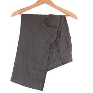 J Crew Brown Linen Capri Pants Size 4